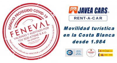 JAVEA CARS, primer RENT A CAR en obtener el Sello